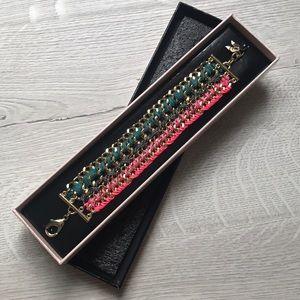 New in box! Victoria's Secret gold/pink bracelet